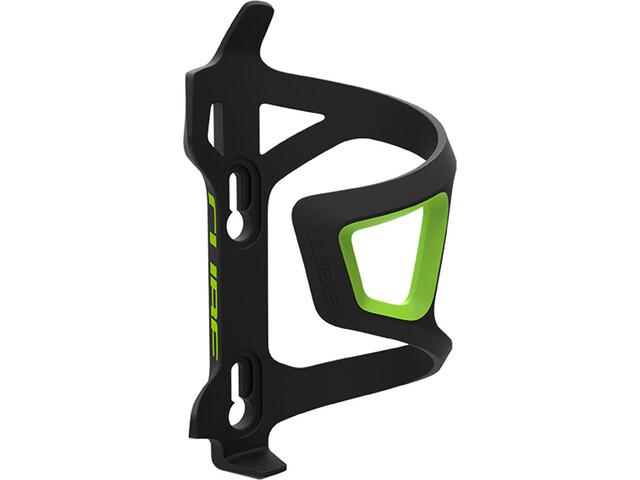 Cube HPP Left-Hand Sidecage Juomapullonpidike, black/green